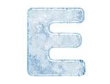 Fototapety Ice font. Letter E.Upper case