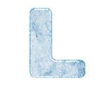 Fototapety Ice font. Letter L.Upper case