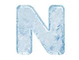 Fototapety Ice font. Letter N.Upper case