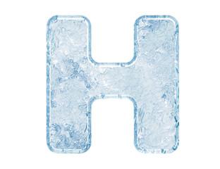 Ice font. Letter H.Upper case