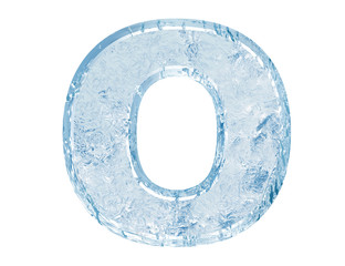 Ice font. Letter O.Upper case