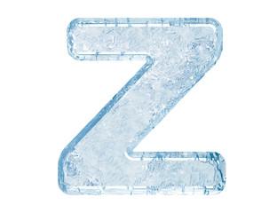 Ice font. Letter Z.Upper case
