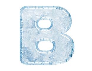Ice font. Letter B.