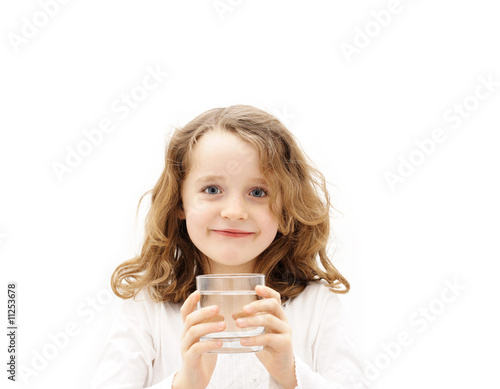 girl with a glass of water - 11253678