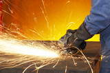 grinding steel poster