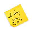 I Love You Handwritten on a Note poster