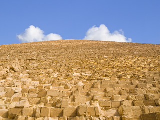 Wall from the Great Pyramid of Cheops in Giza
