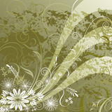 Floral background design, vector illustration layered.
