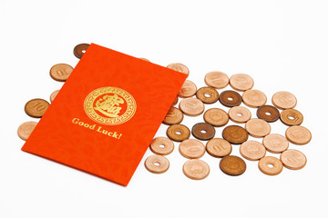 Chinese Good Luck Envelope with Coins