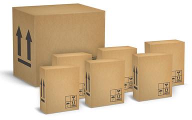 Cajas de carton ondulado para transportes