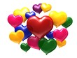 Balloons in form of heart