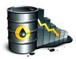 Cours du pétrole en baisse