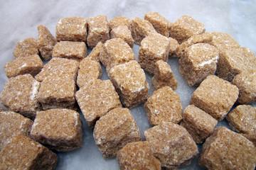 morceaux de sucre canne