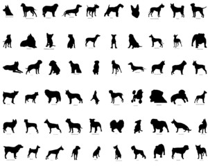 dogs silhouettes