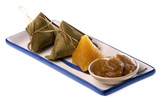 Dumplings in Bamboo Leaf Isolated poster