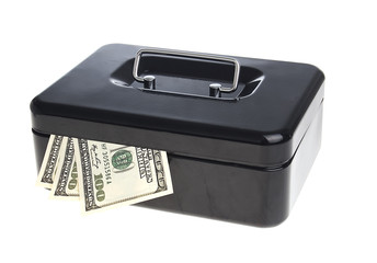 Money in cash box