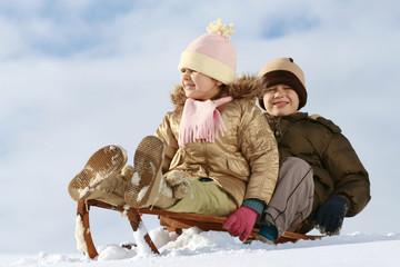 sled & children