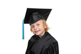 Young girl in graduation dress