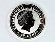Silver coin of Australia face value of 50 cents