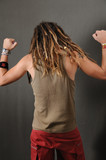 Funky guy with dreadlocks poster