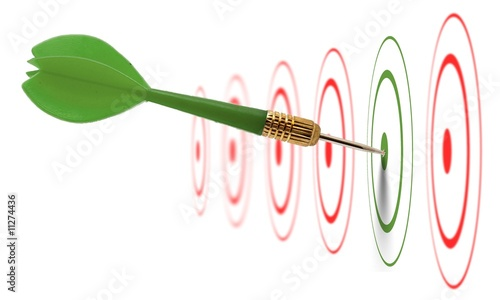 image concept de stratégie marketing (valider / accepter)