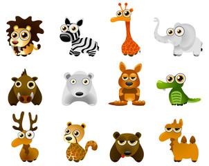 wild animal vector - cartoon series 4