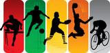 Fototapety Sport silhouettes