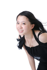 Smiling chinese woman - closeup portrait