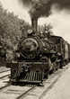 roleta: Old locomotive sepia