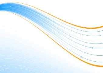 Blue and orange line