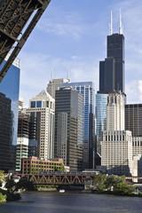 Chicago from under the bridge