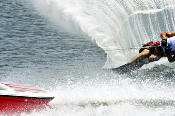 Water Ski In Action Man Slalom