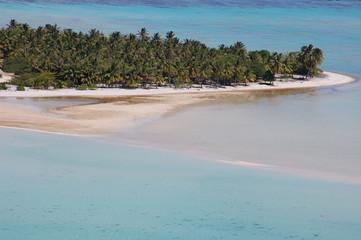 Motu Island Ariel View, Bora Bora French Polynesia