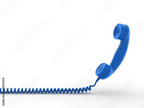 Retro telephone receiver. 3D generated image - 11293459