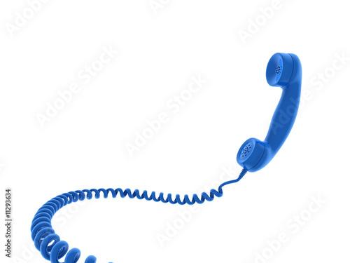 Retro telephone receiver. 3D generated image - 11293634