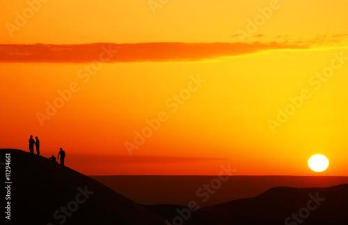 Tuinposter Algerije Sunrise watching