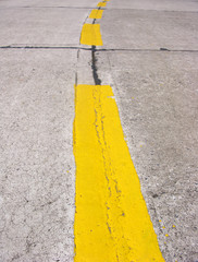 Lines on road