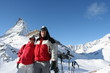 Skiers in Alps