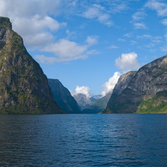 Naeroyfjord in Norway, UNESCO World Heritage Site since 2005