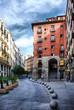 Quadro Madrid. Cava de San Miguel y Arco de Cuchilleros.