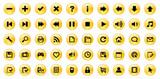 Miscellaneous Web Buttons (orange) poster