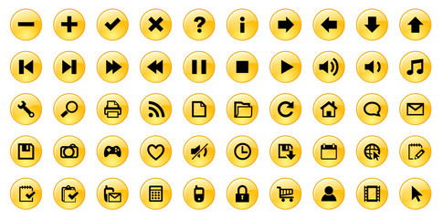 Miscellaneous Web Buttons (orange)