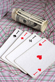Playing cards and bet (dollars) poster