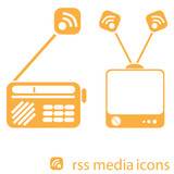 RSS media icons poster