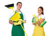 Man and Woman Cleaning