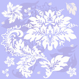 Blue  gentle flower abstract background poster