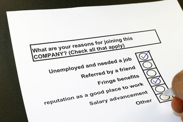 What are your reason in joining this company?