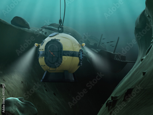 Leinwanddruck Bild Diving Bell
