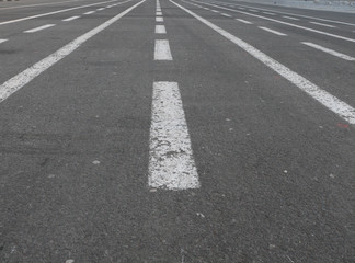 ..line markings on the town square