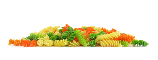 Fusilli green, orange and yellow